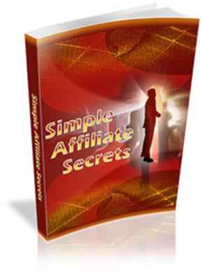 Product picture  SAS - Simple Affiliate Secrets
